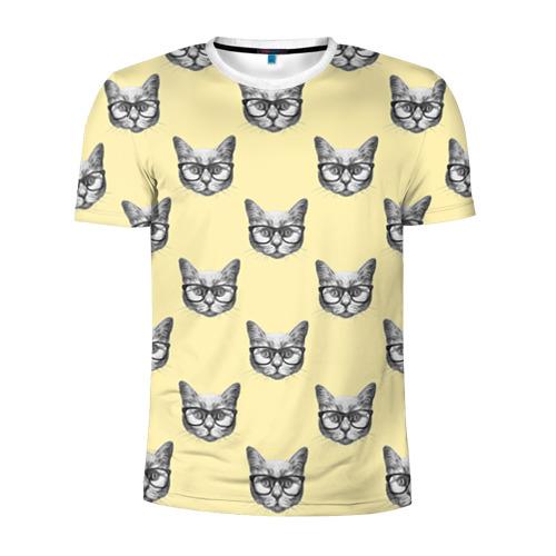 Мужская футболка 3D спортивная Котик