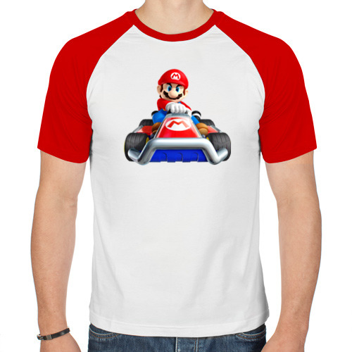 Мужская футболка реглан  Фото 01, Super Mario