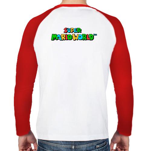 Мужской лонгслив реглан  Фото 02, Super Mario