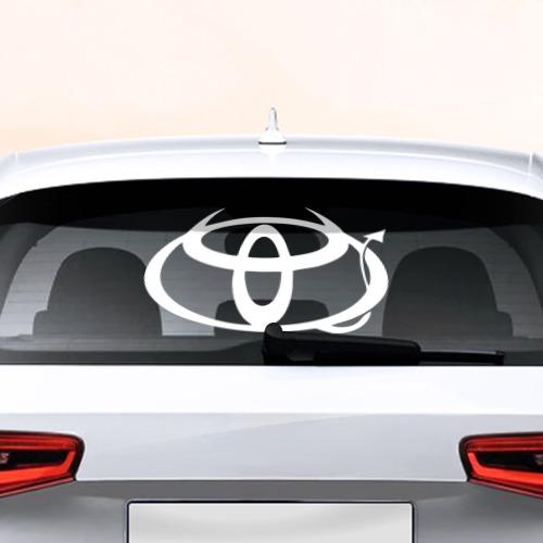 Наклейка на авто - для заднего стекла Toyota