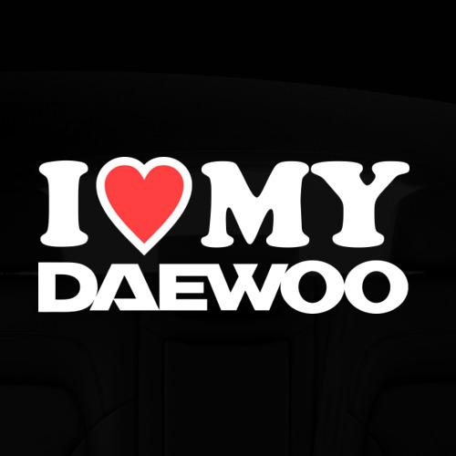 Наклейка на авто - для заднего стекла  Фото 05, I love my Daewoo