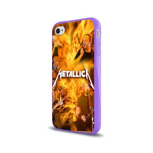 Чехол для Apple iPhone 4/4S силиконовый глянцевый  Фото 03, METALLICA