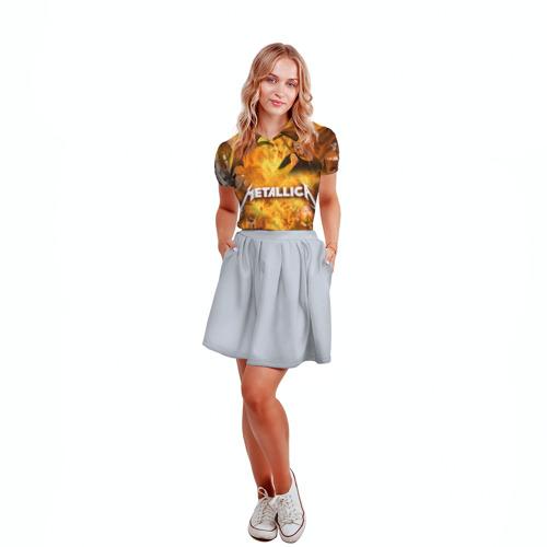 Женская рубашка поло 3D  Фото 04, METALLICA
