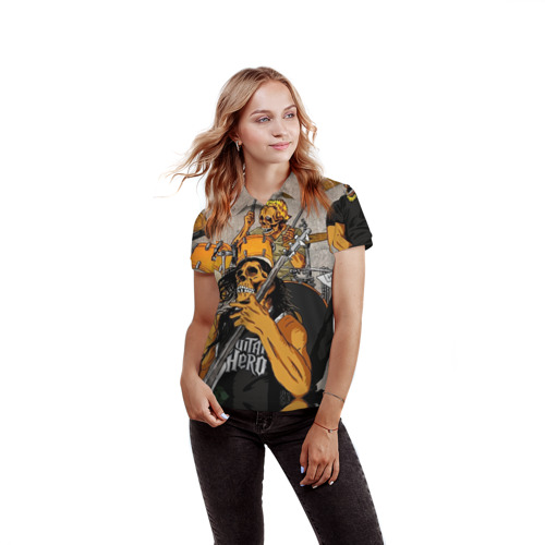 Женская рубашка поло 3D  Фото 03, METALLICA