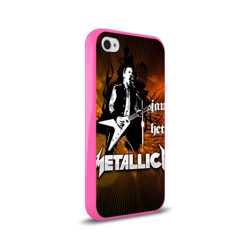 Чехол для Apple iPhone 4/4S силиконовый глянцевый  Фото 02, METALLICA