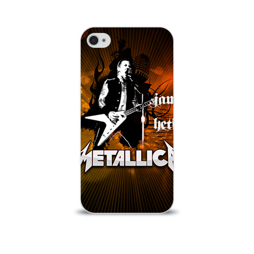 Чехол для Apple iPhone 4/4S soft-touch  Фото 01, METALLICA