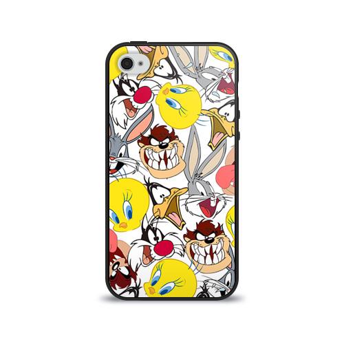 Чехол для Apple iPhone 4/4S силиконовый глянцевый Bugs Bunny от Всемайки