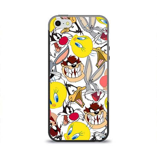 Чехол для Apple iPhone 5/5S силиконовый глянцевый Bugs Bunny от Всемайки