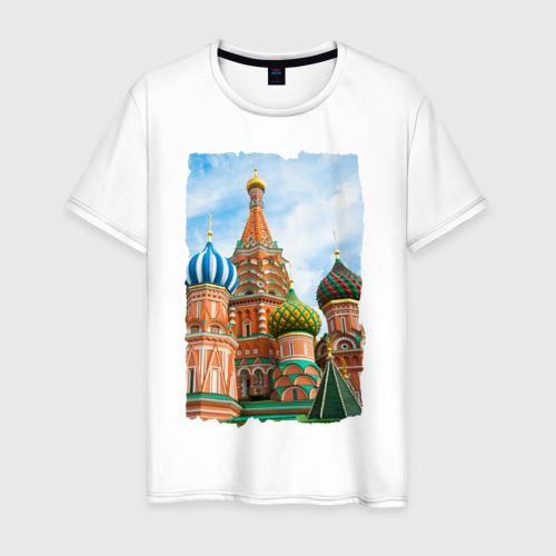 Мужская футболка хлопок Собор Вас. Блаженного (лето) Фото 01