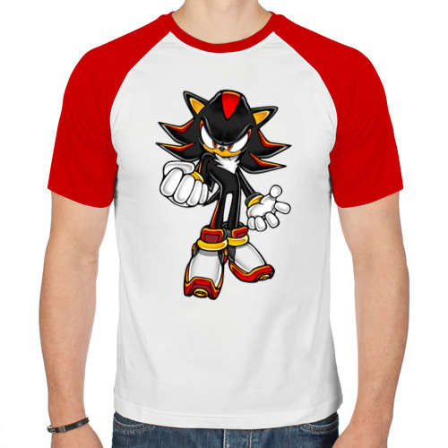 Мужская футболка реглан  Фото 01, Sonic Shadow