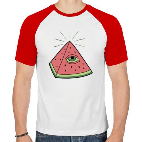 Мужская футболка реглан  Фото 01, Арбуз