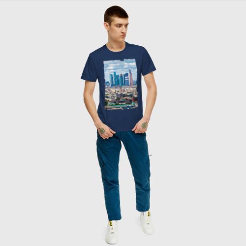 Мужская футболка хлопок Москва-Сити Фото 01