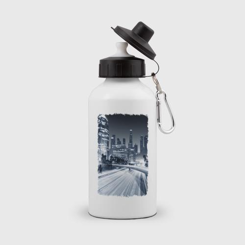 Бутылка спортивная Ночной город Фото 01