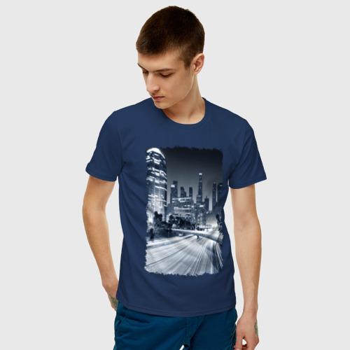 Мужская футболка хлопок Ночной город Фото 01