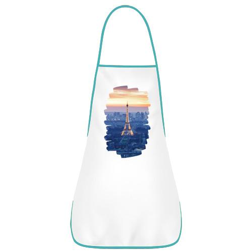 Фартук с кантом Светящаяся Эйфелева башня
