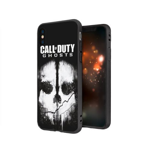 Чехол для Apple iPhone X силиконовый матовый Call of Duty Фото 01
