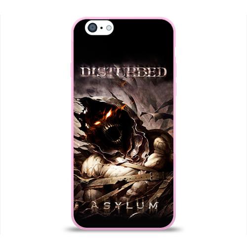 """Чехол силиконовый глянцевый для Apple iPhone 6 """"Disturbed"""" - 1"""