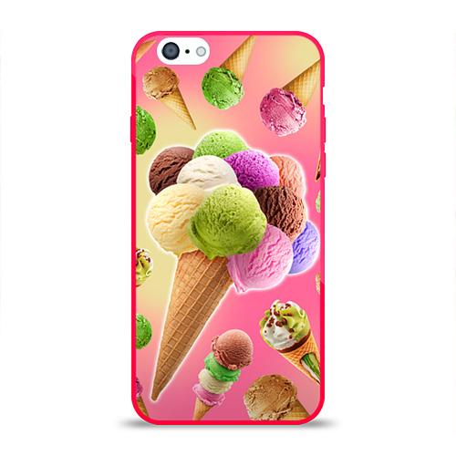 Чехол для Apple iPhone 6 силиконовый глянцевый  Фото 01, Мороженое
