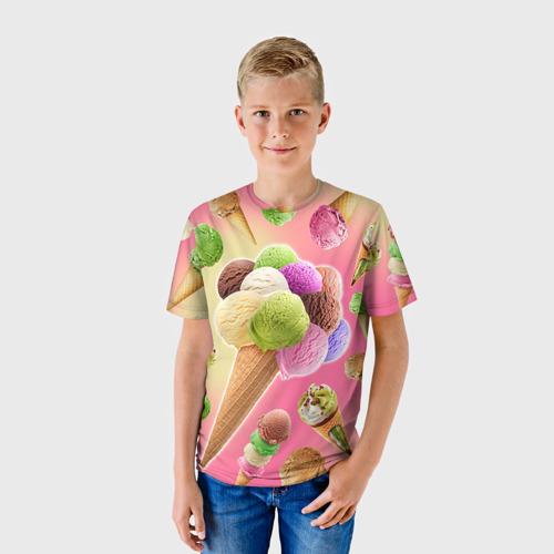Детская футболка 3D Мороженое