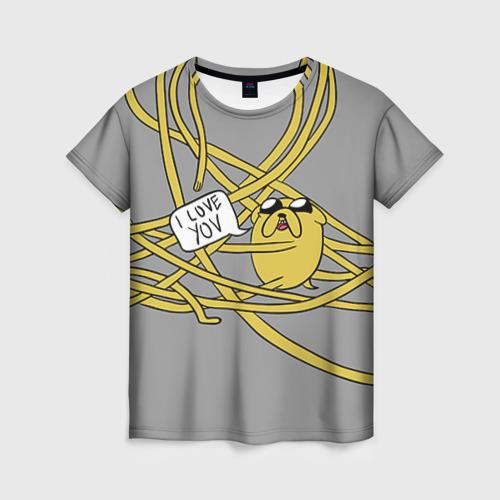 Женская футболка 3D Джейк от Всемайки