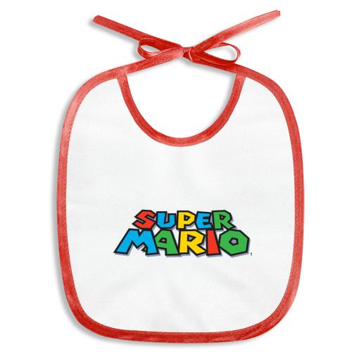 Слюнявчик  Фото 01, Mario Logo