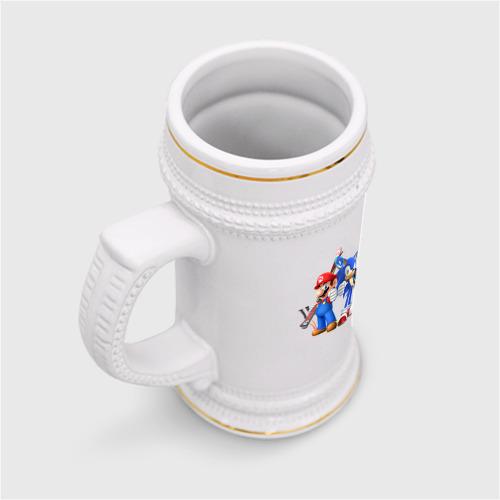 Кружка пивная  Фото 03, Sonic & Mario