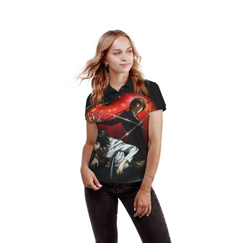 Женская рубашка поло 3D  Фото 03, Тетрадь смерти