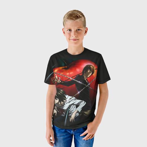 Детская футболка 3D Тетрадь смерти