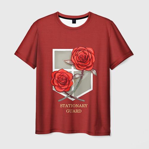 Мужская футболка 3D Стационарная гвардия