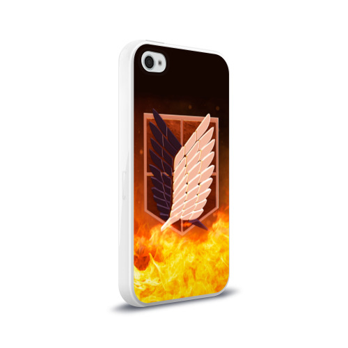 Чехол для Apple iPhone 4/4S силиконовый глянцевый Атака Титанов Фото 01
