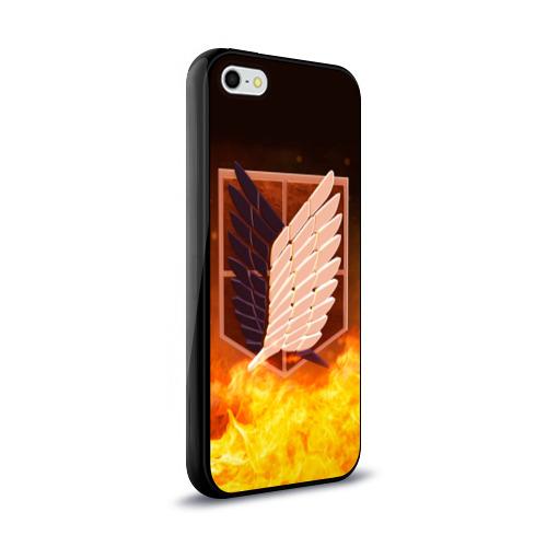 Чехол для Apple iPhone 5/5S силиконовый глянцевый Атака Титанов Фото 01