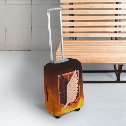 Чехол для чемодана 3D Атака Титанов Фото 01