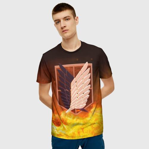 Мужская футболка 3D Атака Титанов Фото 01
