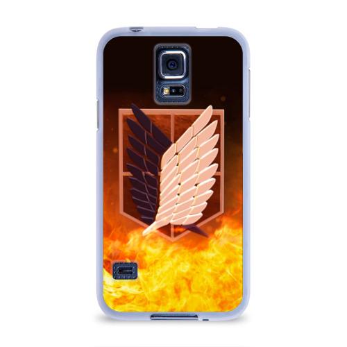 Чехол для Samsung Galaxy S5 силиконовый Атака Титанов