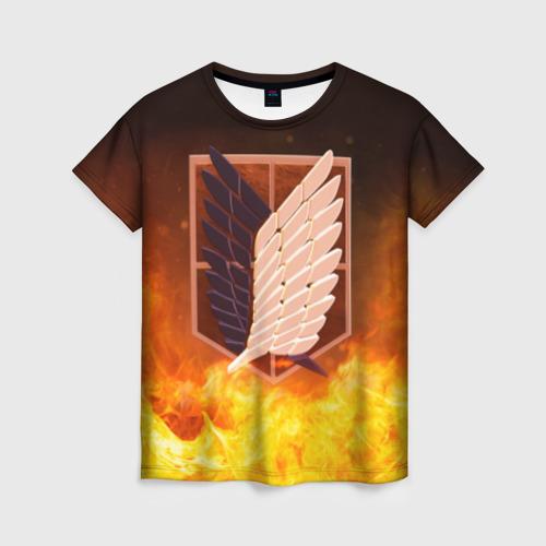 Женская футболка 3D Атака Титанов от Всемайки