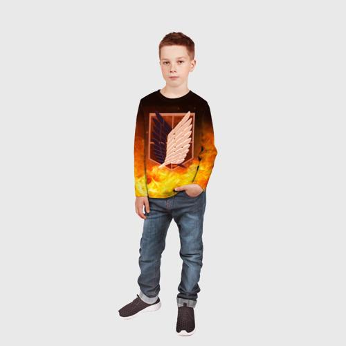 Детский лонгслив 3D Атака Титанов Фото 01