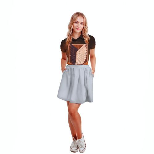 Женская рубашка поло 3D Атака Титанов Фото 01