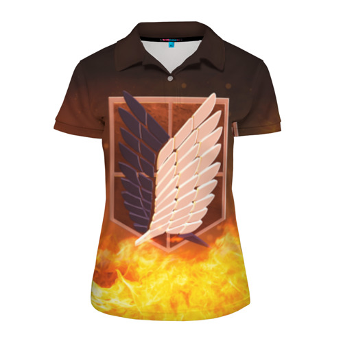 Женская рубашка поло 3D Атака Титанов