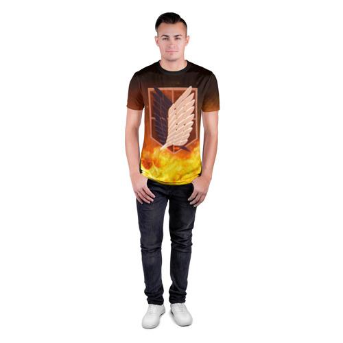 Мужская футболка 3D спортивная Атака Титанов Фото 01