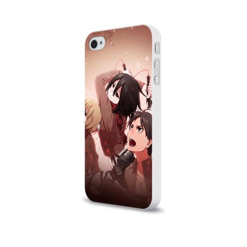 Чехол для Apple iPhone 4/4S soft-touch  Фото 03, Атака Титанов