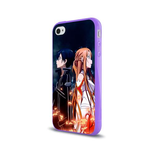 Чехол для Apple iPhone 4/4S силиконовый глянцевый  Фото 03, Sword Art Online