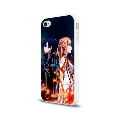 Чехол для Apple iPhone 4/4S силиконовый глянцевый Sword Art Online