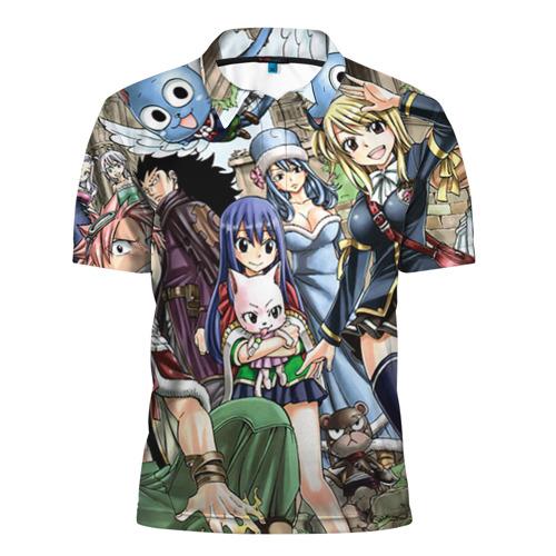 Мужская рубашка поло 3D Fairy tail