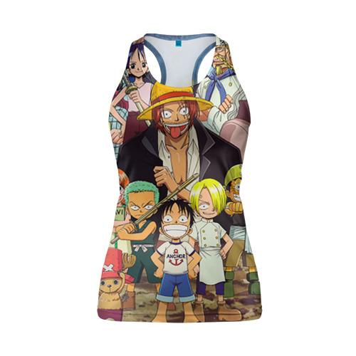 Женская майка 3D спортивная One Piece