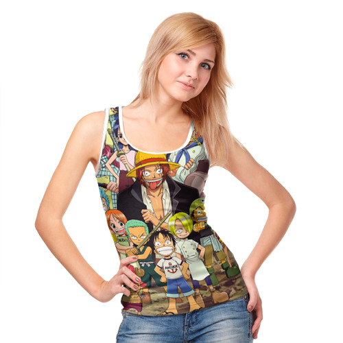 Женская майка 3D  Фото 05, One Piece