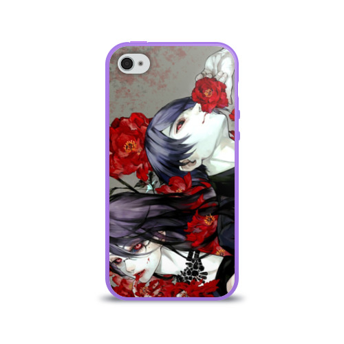 Чехол для Apple iPhone 4/4S силиконовый глянцевый Токийский Гуль Фото 01