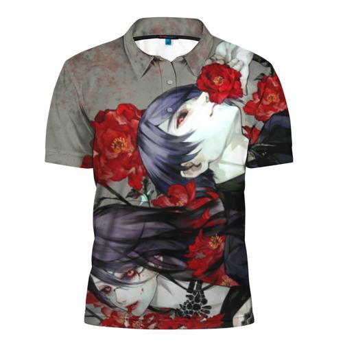 Мужская рубашка поло 3D Токийский Гуль