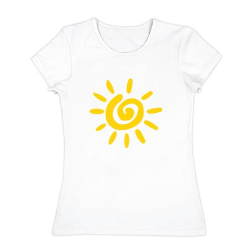 Женская футболка хлопок Солнце
