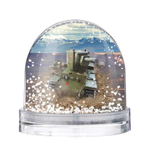 Водяной шар со снегом Танк КВ-2