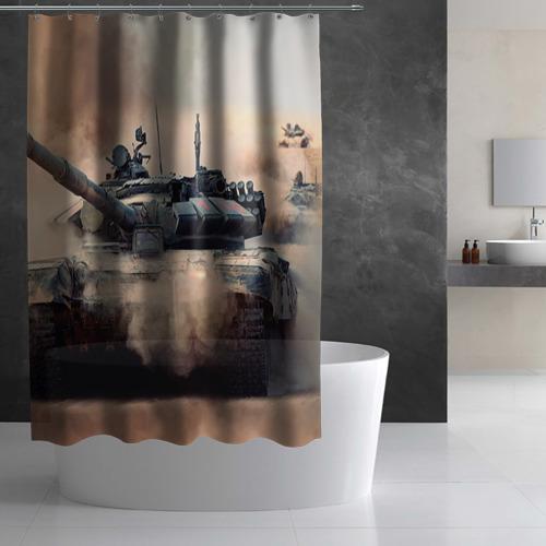 Штора 3D для ванной  Фото 02, Танк